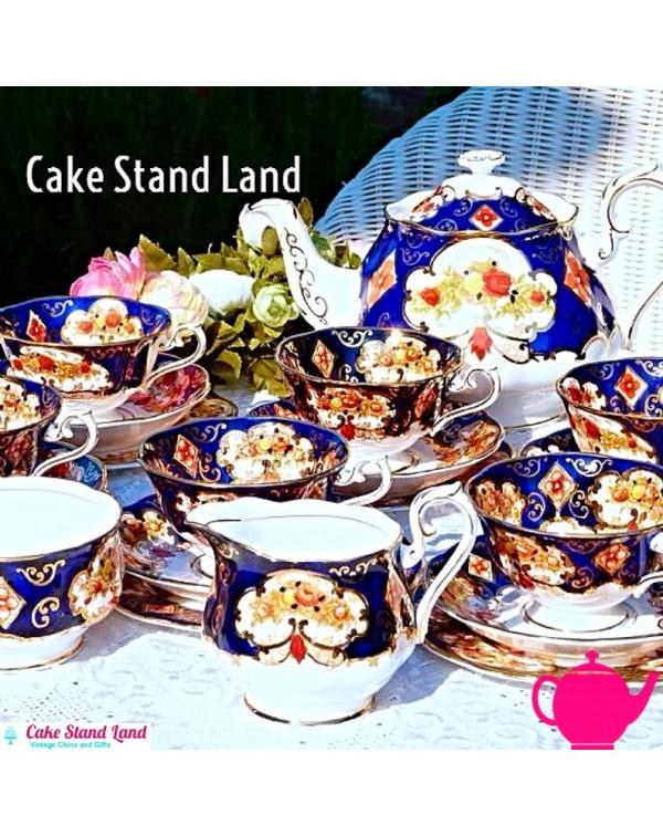 (SOLD) ROYAL ALBERT HEIRLOOM TEA SET