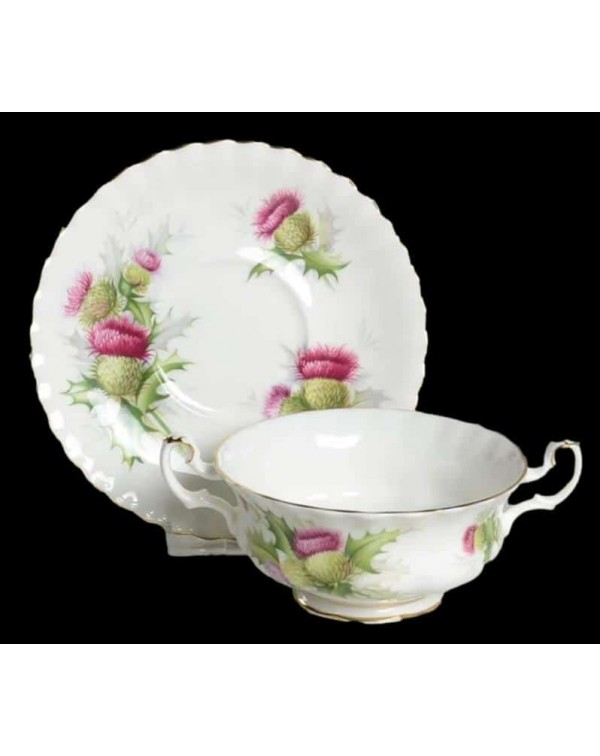 ROYAL ALBERT HIGHLAND THISTLE SOUP COUPE