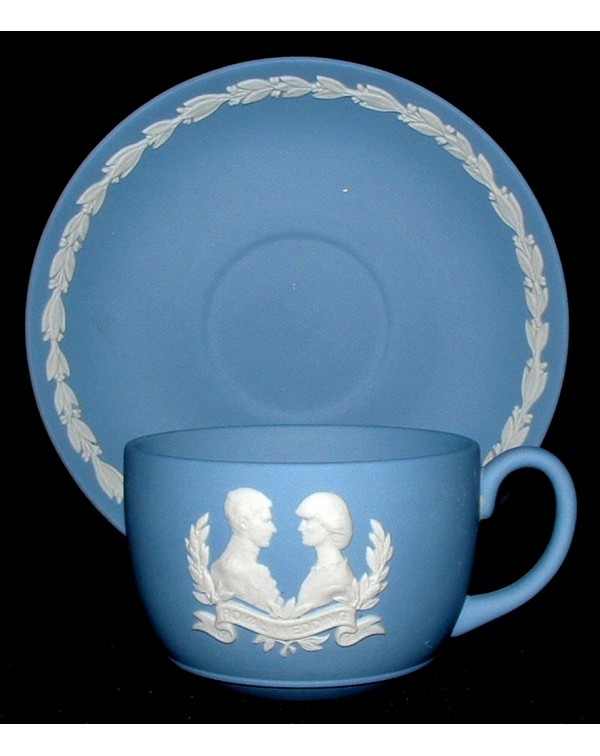 WEDGWOOD JASPERWARE CHARES & DIANA CUP & S...