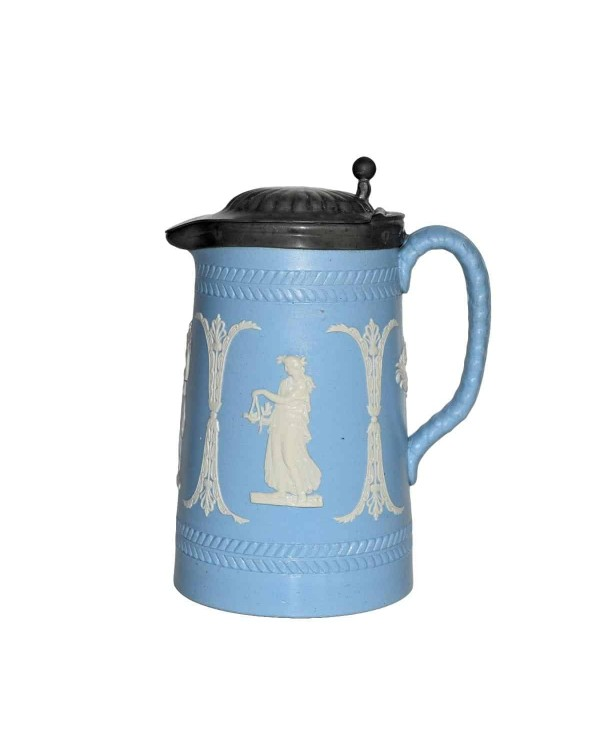 WEDGWOOD PEWTER LIDDED TANKARD