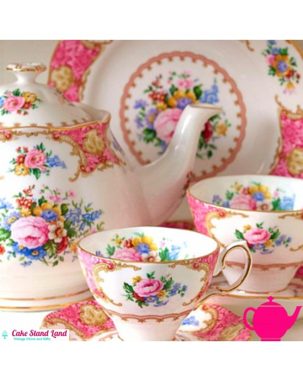 (SOLD) ROYAL ALBERT LADY CARLYLE TEA SET