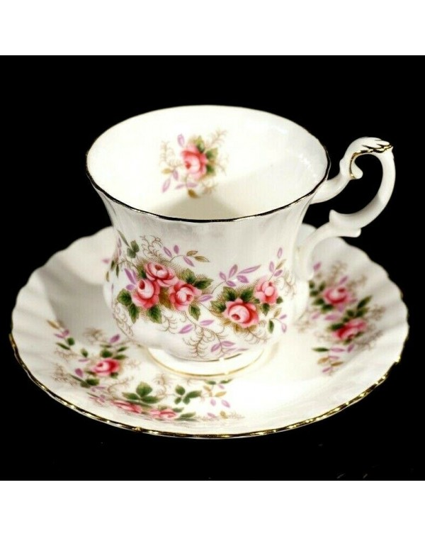 ROYAL ALBERT LAVENDER ROSE COFFEE CUP & SAUCER