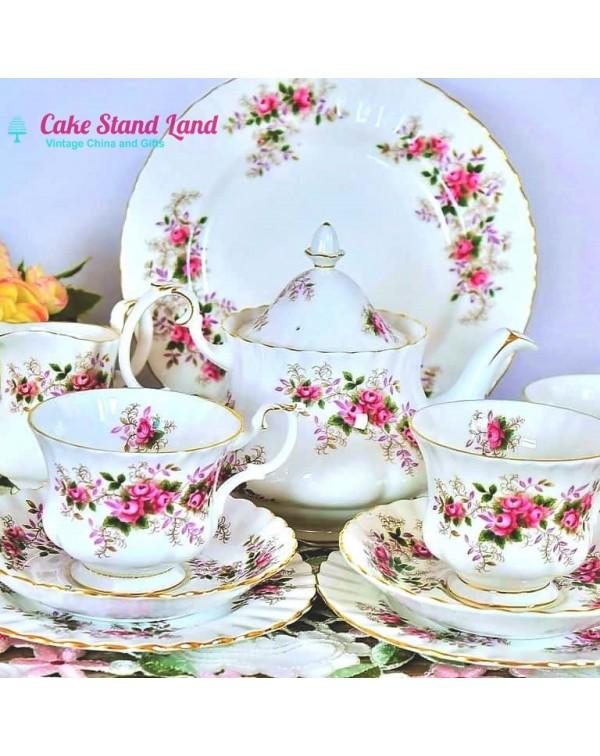 ROYAL ALBERT LAVENDER ROSE TEA FOR 2