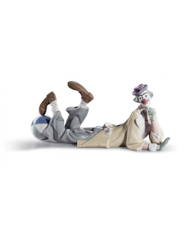 (SOLD) LLADRO CLOWN WITH BALL LARGE FIGURINE