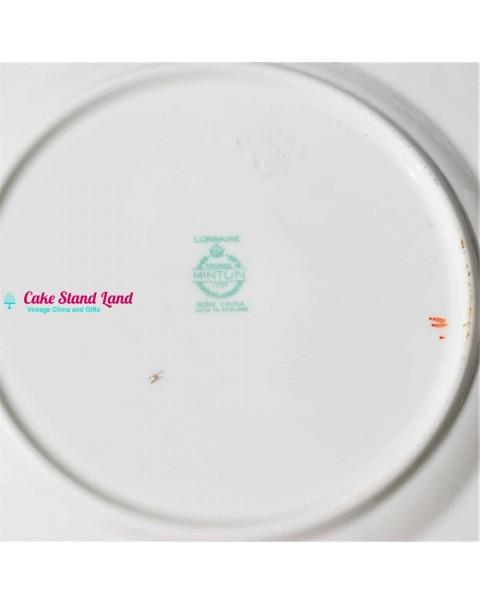 (SOLD) MINTON LORRAINE CAKE PLATE SET