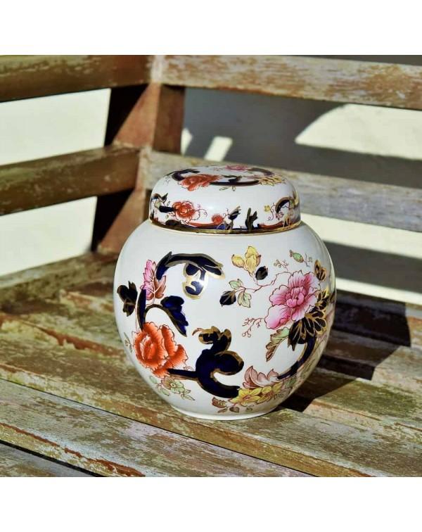 MASONS MANDALAY LIDDED GINGER JAR