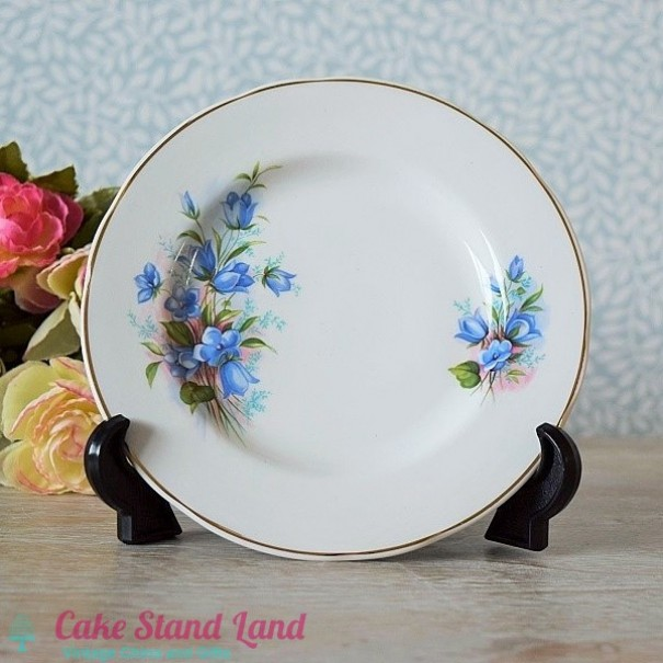 (OUT OF STOCK) MAYFAIR TEA BLUE FLORAL TEA PLATE