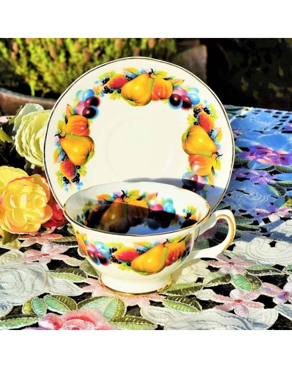 MAYFAIR FRUIT TEA CUP & SAUCER