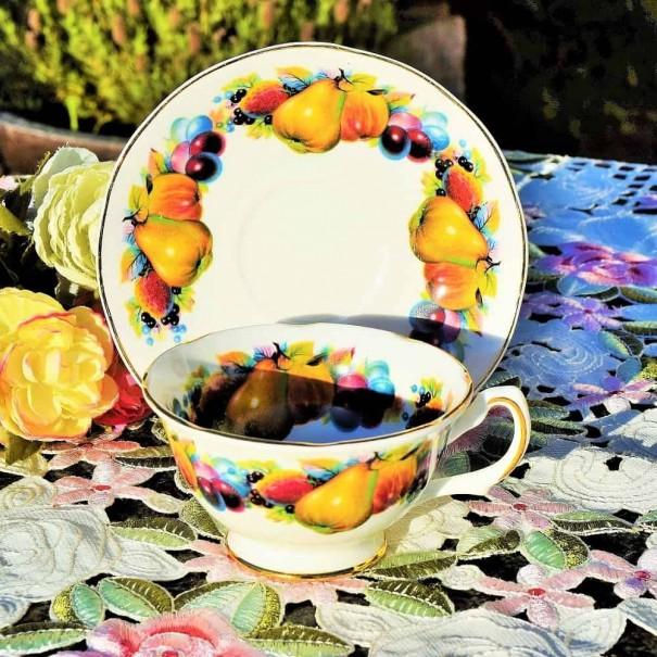 MAYFAIR FRUIT TEA CUP & SAUCER