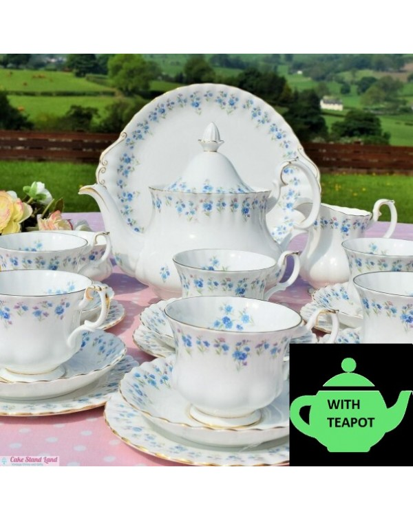 ROYAL ALBERT MEMORY LANE TEA SET WITH TEAPOT