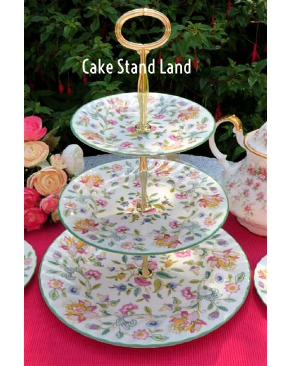 MINTON HADDON HALL CAKE STAND