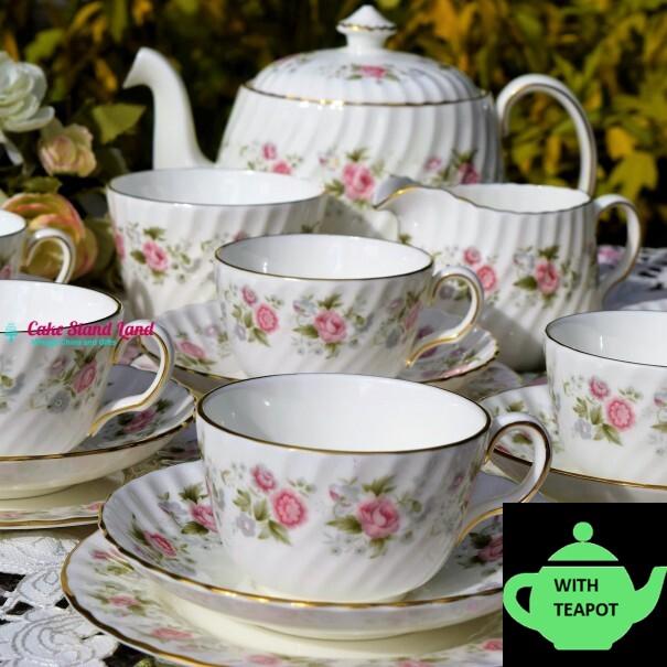 MINTON SPRING BOUQUET TEA SET & TEAPOT