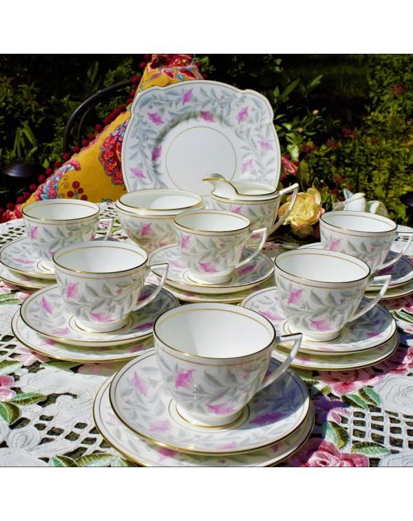(SOLD) MINTON PETUNIA TEA SET
