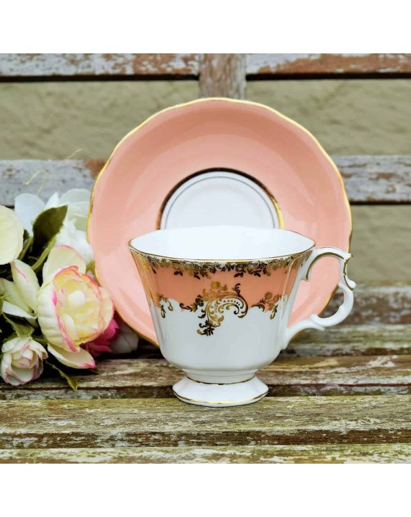 ROYAL ALBERT MISMATCHED CUP AND SAUCER