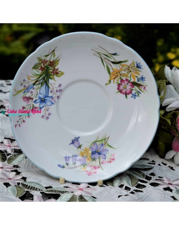 (SOLD) SHELLEY WILD FLOWERS LARGE  SAUCER