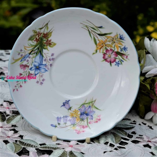 SHELLEY WILD FLOWERS LARGE  SAUCER