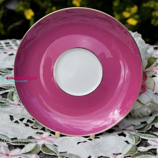 BOMBAY DUCK LARGE PINK TEA SAUCER