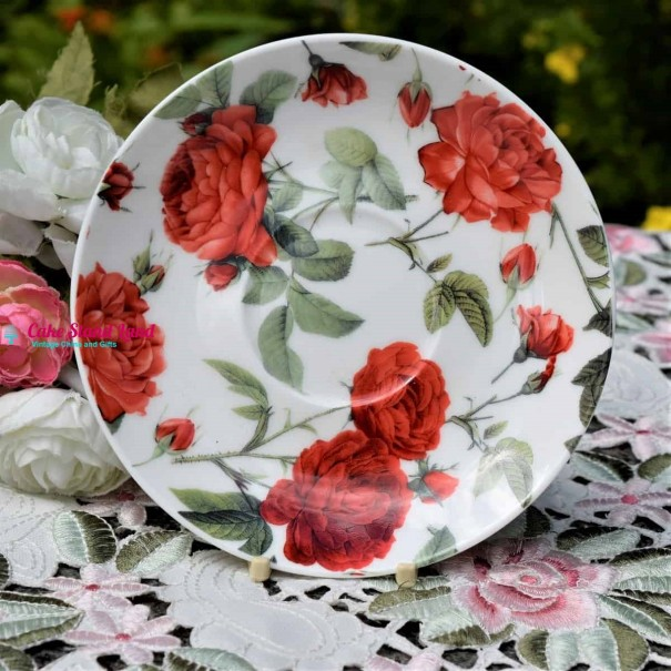 RED ROSES TEA SAUCER