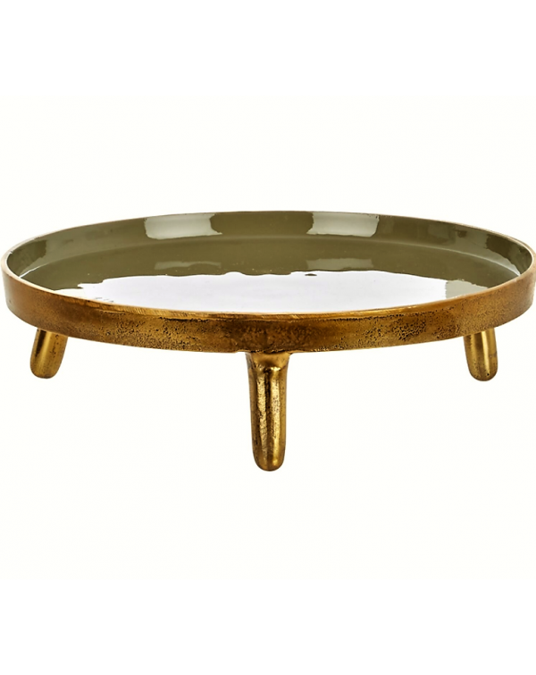 VERY LARGE GOLD METAL CAKE STAND