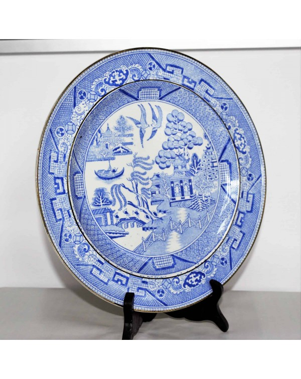 WILLOW PATTERN PLATE 23 CM