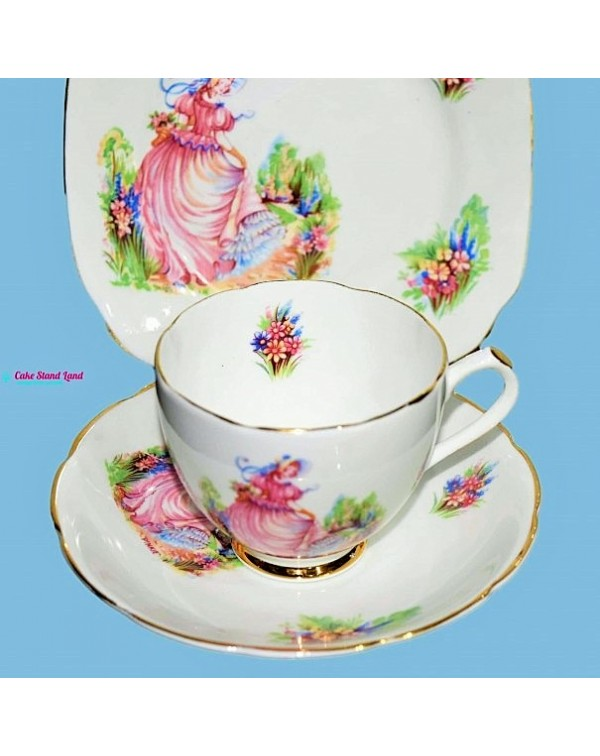 PINKIE ENGLISH VINTAGE TEA TRIO