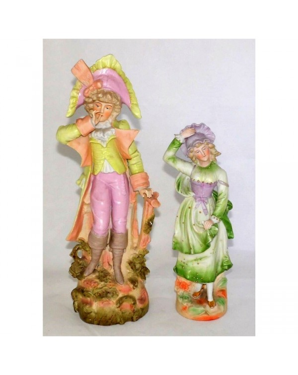 PAIR OF LARGE CONTINENTAL FIGURES
