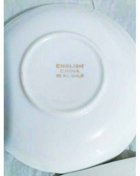 (SOLD) PINKIE ENGLISH VINTAGE TEA TRIO