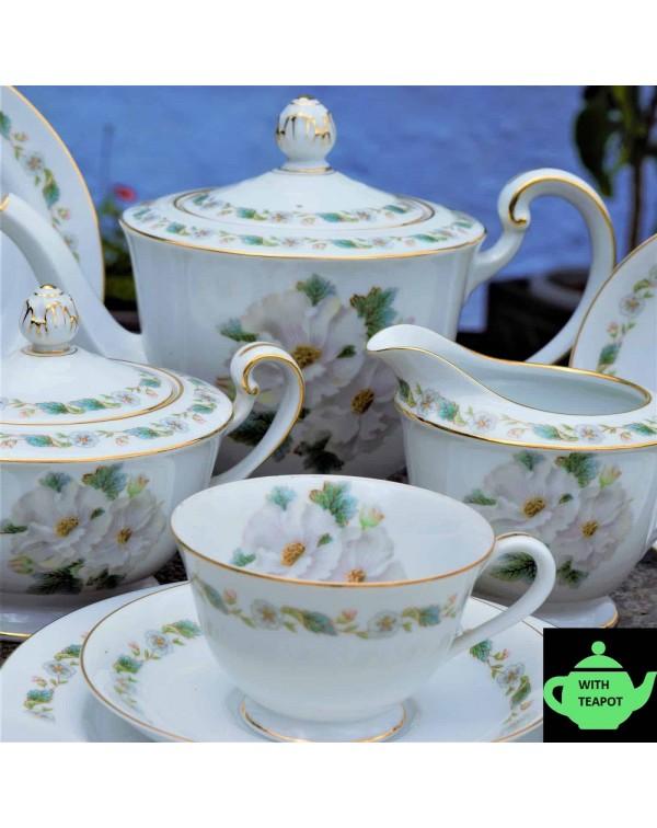 NORITAKE CAMELLIA TEA SET