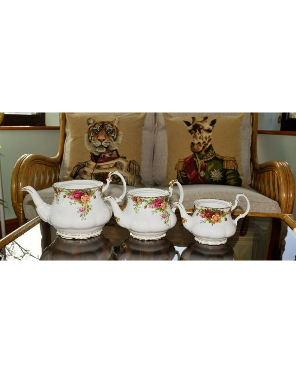 (SOLD) OLD COUNTRY ROSES TEAPOTS X 3