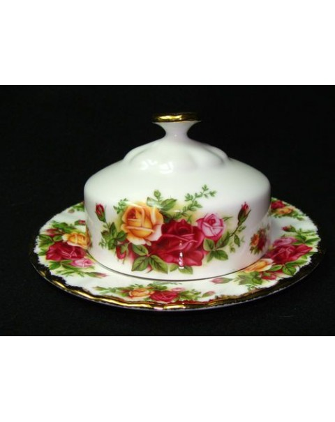 (OUT OF STOCK) OLD COUNTRY ROSES LIDDED BUTTER DISH