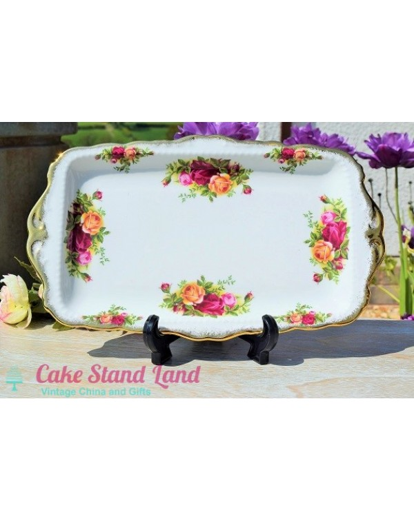 (OUT OF STOCK) OLD COUNTRY ROSES SANDWICH TRAY