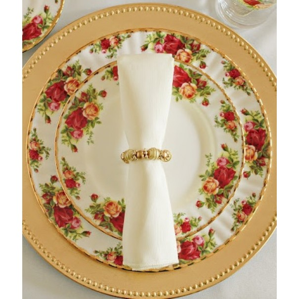 OLD COUNTRY ROSES DINNER PLATE & SALAD PLATE