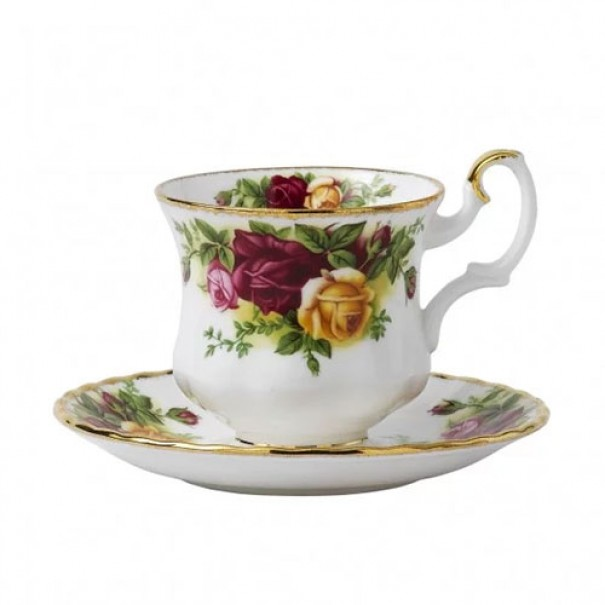 (OUT OF STOCK) ROYAL ALBERT OLD COUNTRY ROSES COFFEE CUP & SAUCER