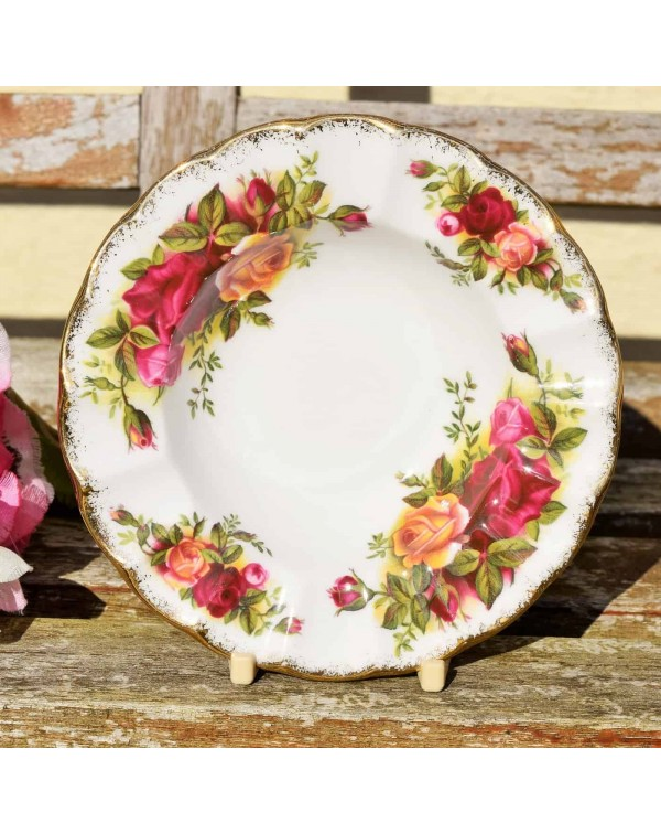 OLD COUNTRY ROSES FLUTED BOWL