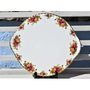 OLD COUNTRY ROSES VERY LARGE RIBBED PLATE 35 cm