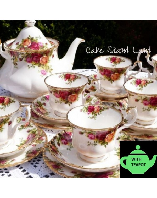 OLD COUNTRY ROSES TEA SET FOR 6