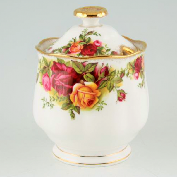 (OUT OF STOCK) OLD COUNTRY ROSES LIDDED JAM POT