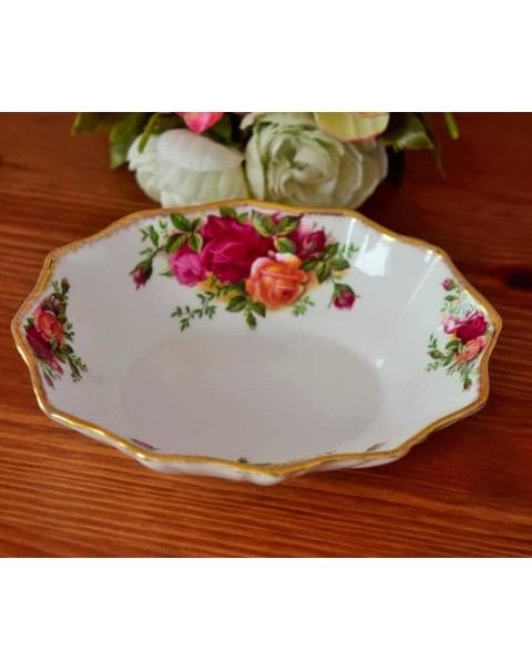 (OUT OF STOCK) OLD COUNTRY ROSES FLUTED DISH