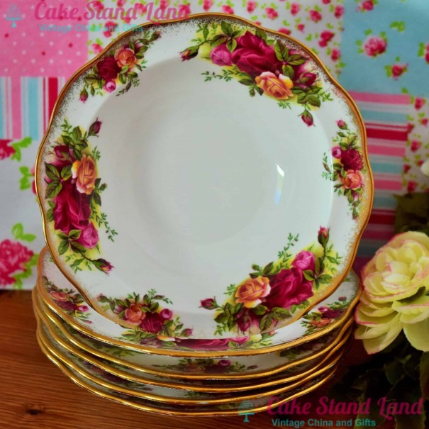 (OUT OF STOCK) OLD COUNTRY ROSES AVON PUDDING BOWL