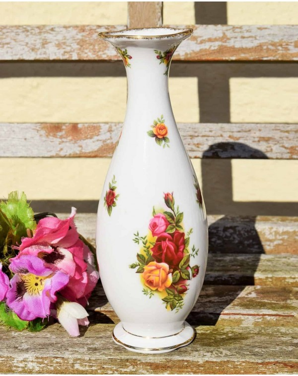 (SOLD) OLD COUNTRY ROSES VINTAGE BUD VASE
