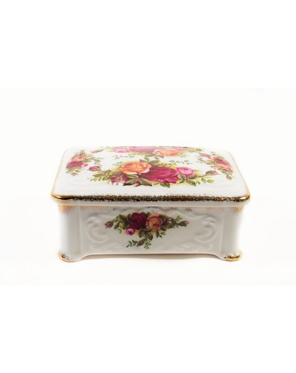 OLD COUNTRY ROSES LIDDED TRINKET BOX
