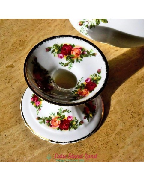 OLD COUNTRY ROSES CANDLE HOLDER