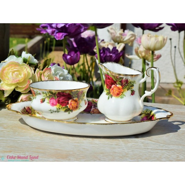 (OUT OF STOCK) OLD COUNTRY ROSES CREAM & SUGAR SET