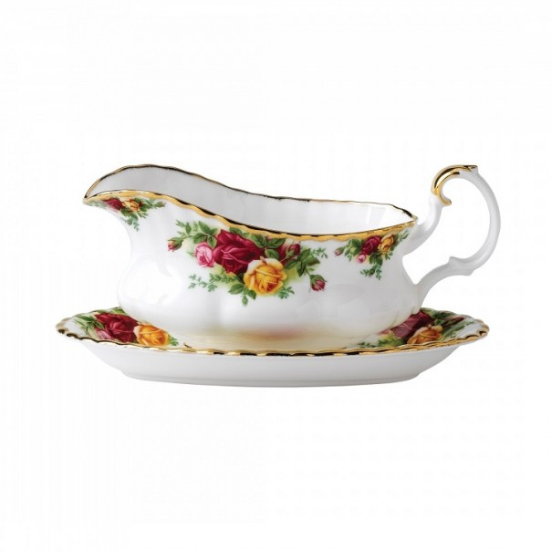 ROYAL ALBERT OLD COUNTRY ROSES SAUCE BOAT GRAVY