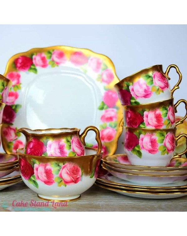 ROYAL ALBERT OLD ENGLISH ROSE TEA SET