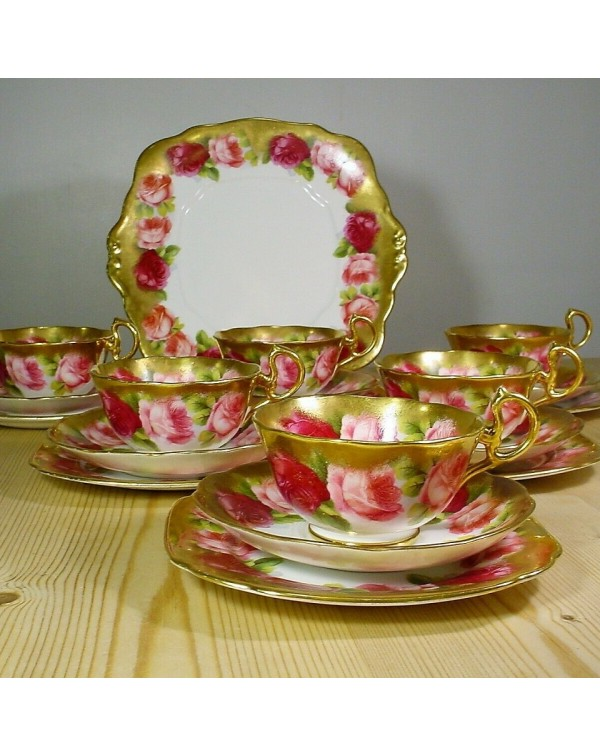 (OUT OF STOCK) ROYAL ALBERT OLD ENGLISH ROSE TEA S...