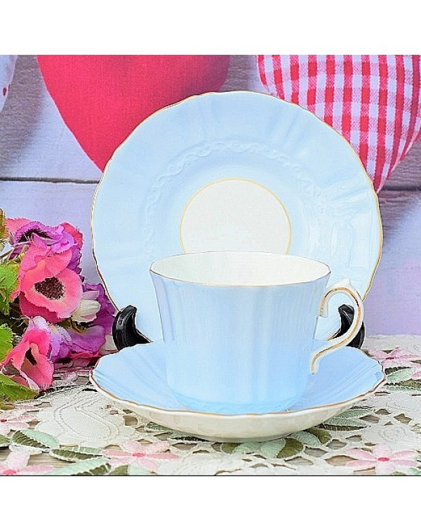 OLD ROYAL TEA TRIO BABY BLUE