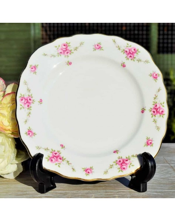 (OUT OF STOCK) ROYAL OSBORNE PINK ROSE TEA PLATE