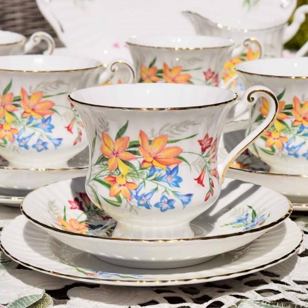 PARAGON FLORAL TEA TRIO