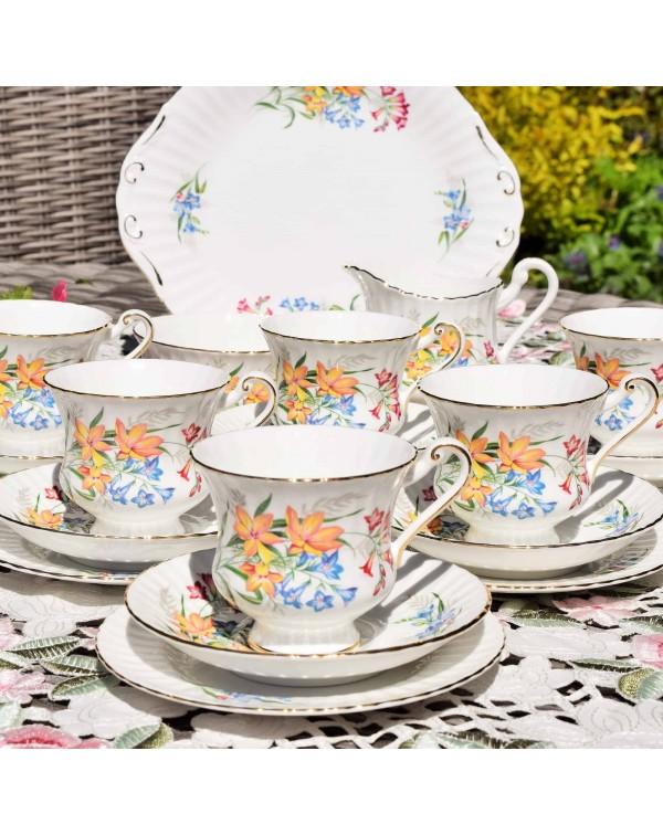 PARAGON TEA SET FOR 6 FLORAL